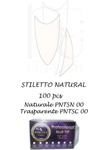 TIPS STILETTO NATURAL  100 PCS