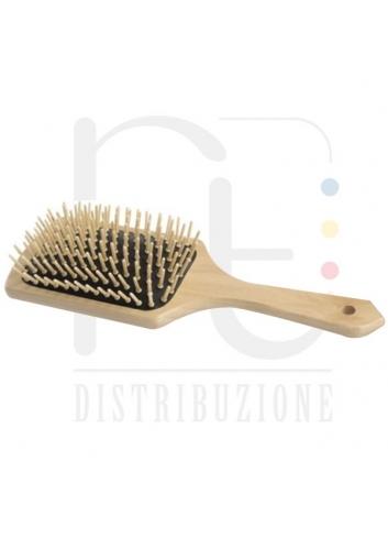 SPAZZOLA PNEUMATICA PIATTA LEGNO HAIR STYLIST